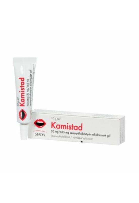Kamistad 20 mg/185 mg szájnyálkahártyán alkalmazott gél 10 g