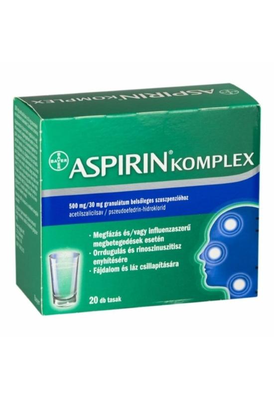 ASPIRIN COMPLEX 500MG/30MG GRAN BELS SZUSZP - 20X
