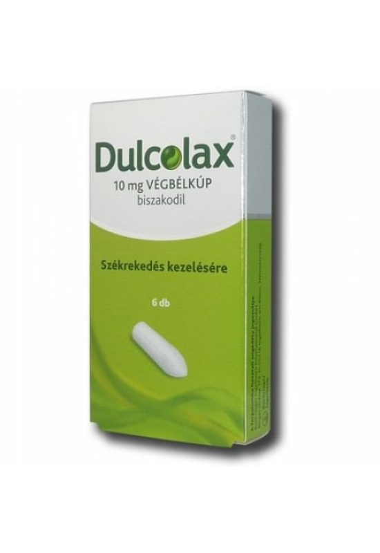 DULCOLAX 10 MG VÉGBÉLKÚP - 6X