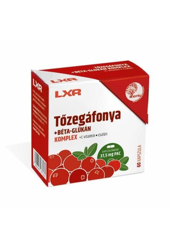 LXR TŐZEGÁFONYA +BÉTA-GLÜKÁN KOMPLEX KAPSZULA - 60X