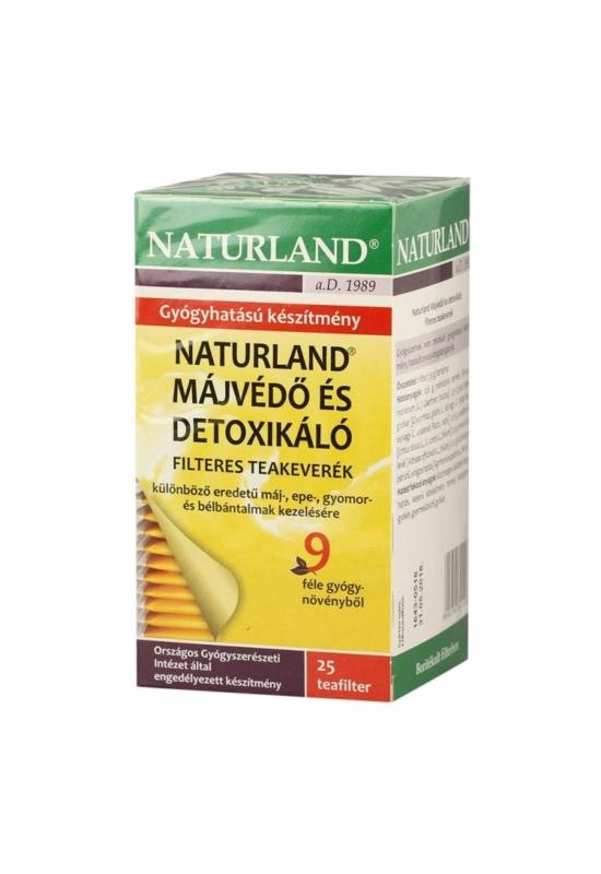 NATURLAND MÁJVÉDŐ filteres tea 25 db