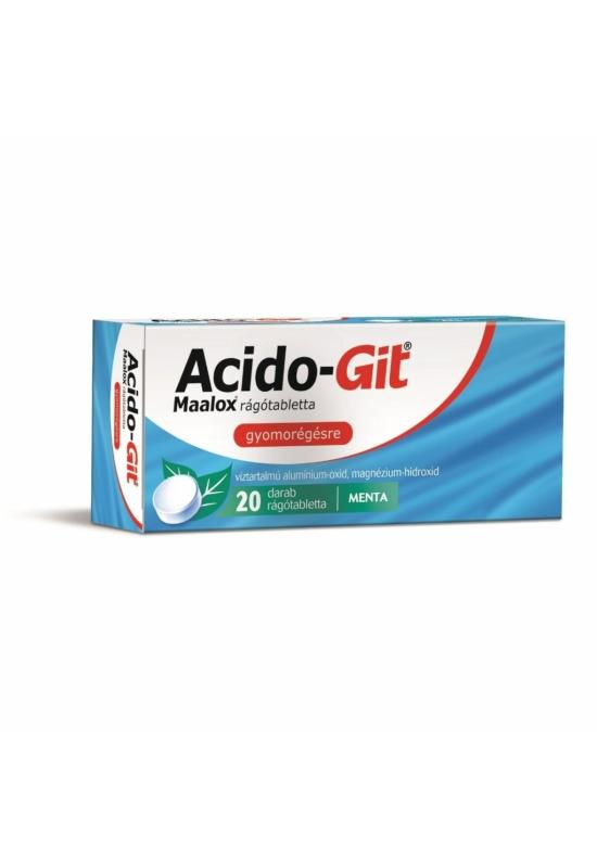 ACIDO-GIT MAALOX RÁGÓTABLETTA - 20X BUB