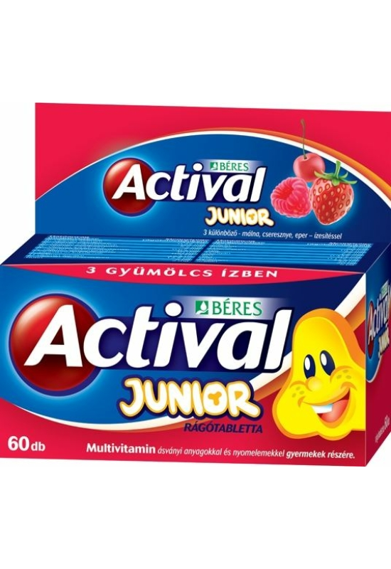 BÉRES ACTIVAL JUNIOR RÁGÓTABLETTA - 60X