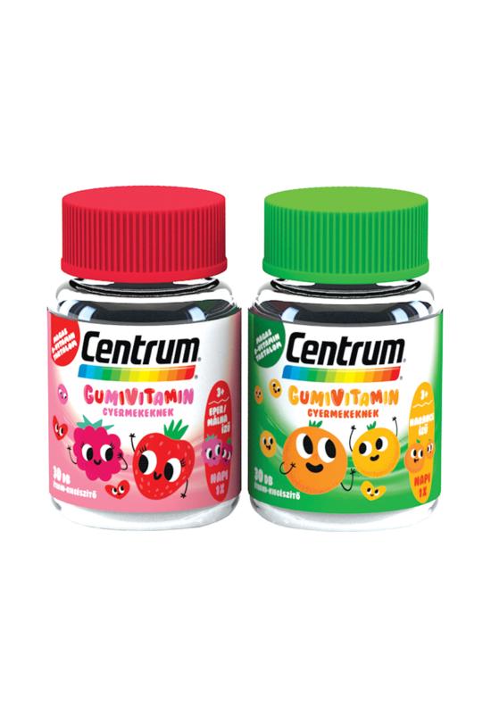 Centrum Gumivitamin gyermekeknek málna-eper+narancs 30x+30x