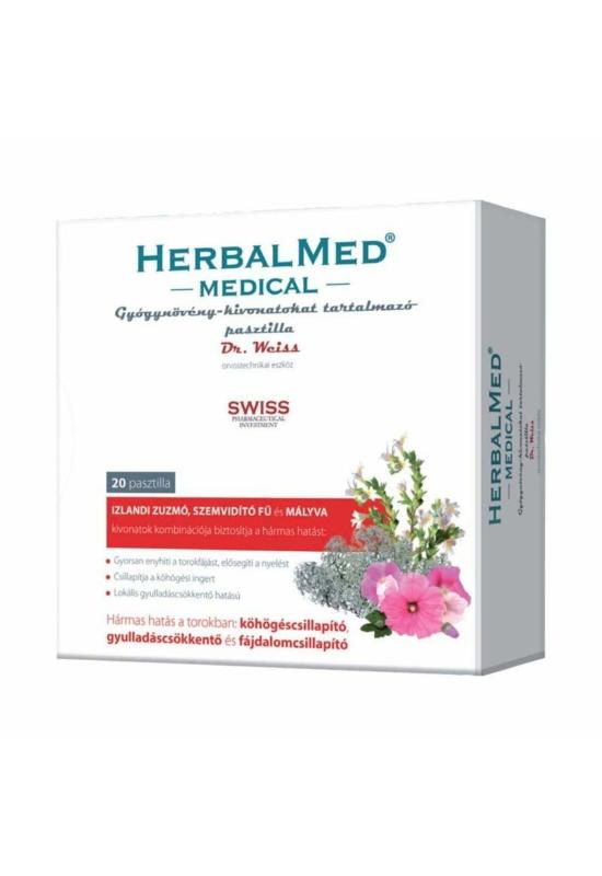 HERBALMED MEDICAL PASZTILLA - 20X