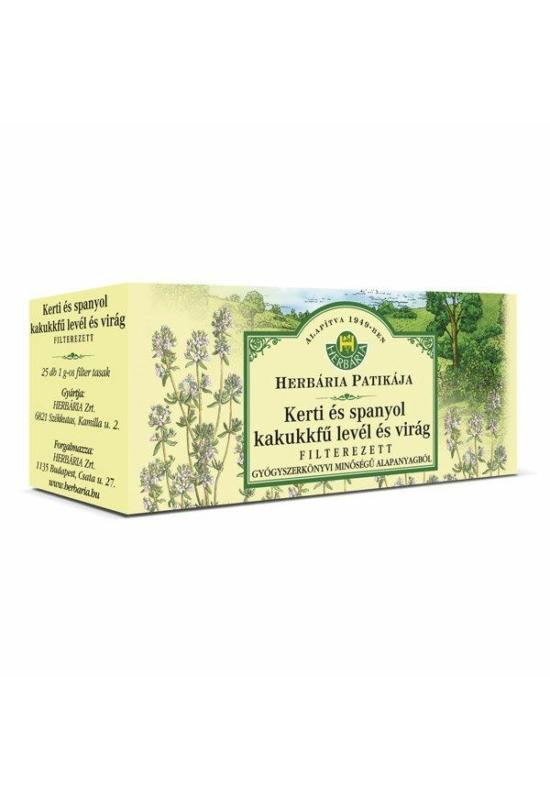 HERBÁRIA KERTI KAKUKKFŰ tea 25x