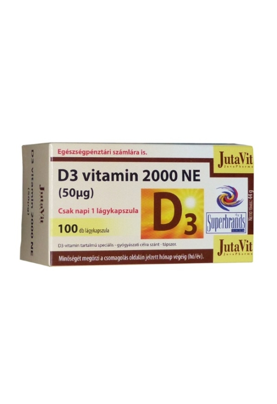 JutaVit D3-vitamin 2000NE kapszula 100x
