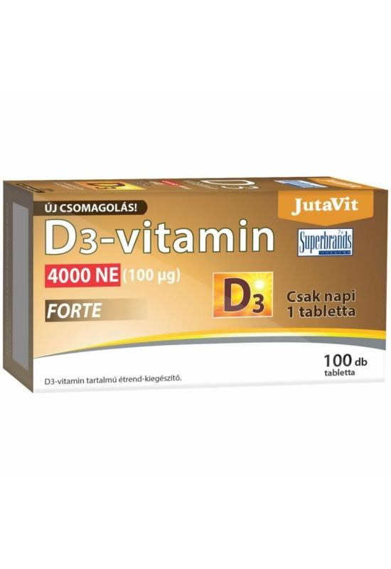 JutaVit D3-vitamin Forte 4000NE kapszula 100x