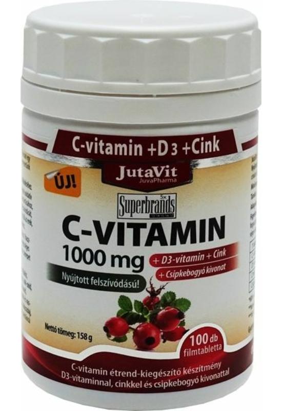JUTAVIT C VIT 1000MG CSIPKEB D3+CINK FTBL - 100 X