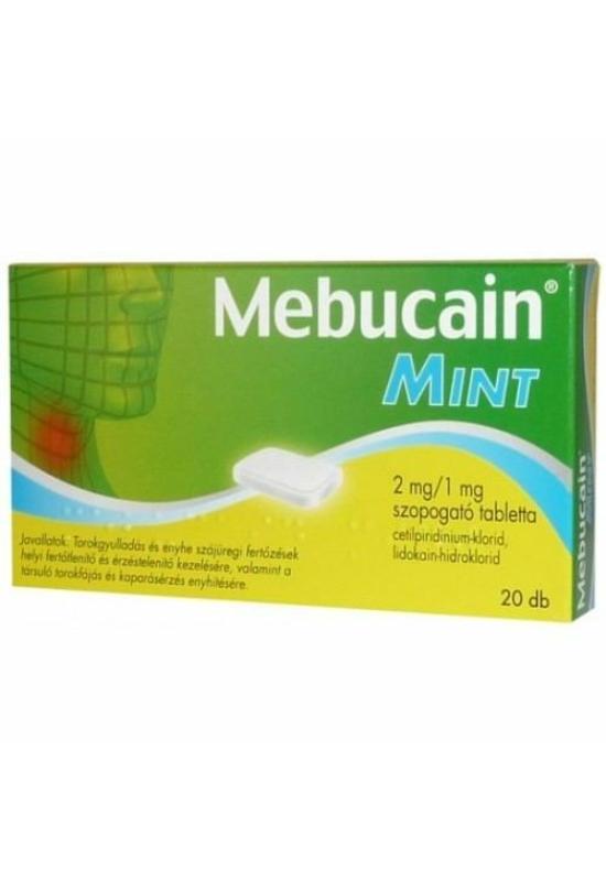 MEBUCAIN MINT 2 MG/1 MG SZOPOGATÓ TABLETTA - 20X