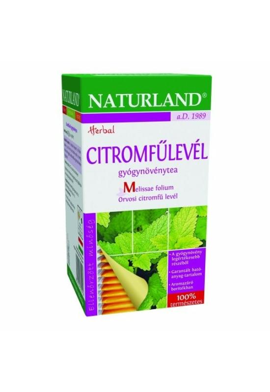 NATURLAND CITROMFŰLEVÉL FILTERES tea 25 db