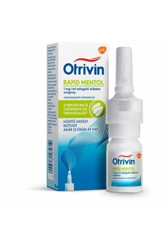 OTRIVIN RAPID MENTHOL 1 MG/ML ADAGOLÓ OLDATOS ORRSPRAY - 10 ML
