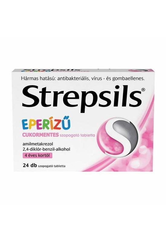 STREPSILS EPERÍZŰ CUKORMENTES SZOPOGATÓ TABLETTA - 24X