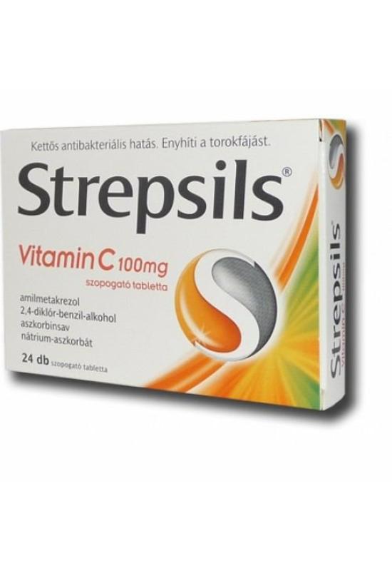 STREPSILS VITAMIN C 100MG SZOP TABLETTA - 24X