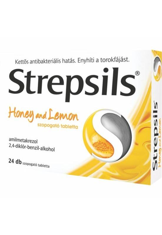 STREPSILS HONEY AND LEMON SZOPOGATÓ TABLETTA - 24X