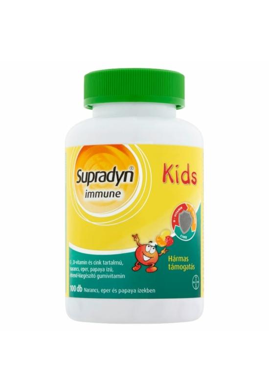 SUPRADYN IMMUNE KIDS C-VITAMIN, D-VITAMIN, CINK GUMIVITAMIN - 100X