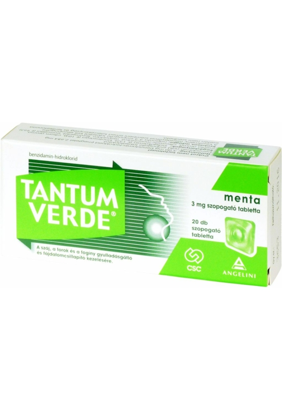 TANTUM VERDE MENTA 3MG SZOPOGATÓ TABLETTA - 20X