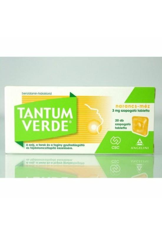 TANTUM VERDE NARANCS-MÉZ 3MG SZOPOGATÓ TABLETTA - 20X