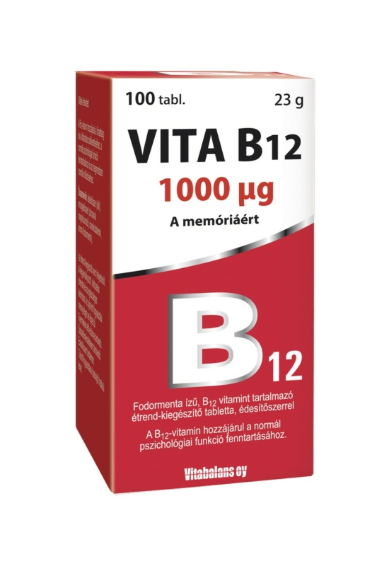 Vitabalans Vita B12 1000 mcg tabletta 100x +30x