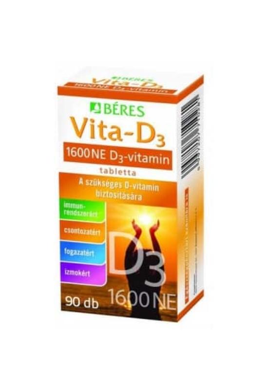 Béres Vita-D3 1600NE Forte étrendkiegészítő tabletta 90x